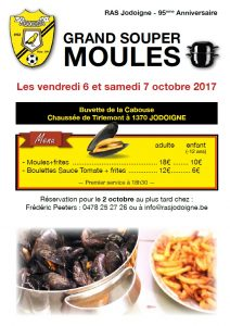 affiche souper moules 6 7 oct 2017